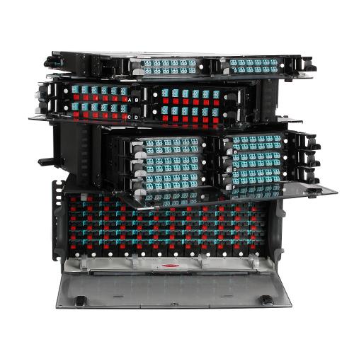 CCH פתרון מארז חיבורים אופטים 1U 2U 4U